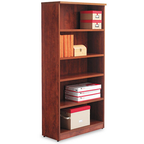 Our Alera® Valencia Series Bookcase - Five-Shelf - 31 3/4w x 14d x 65h - Medium Cherry is on sale now.