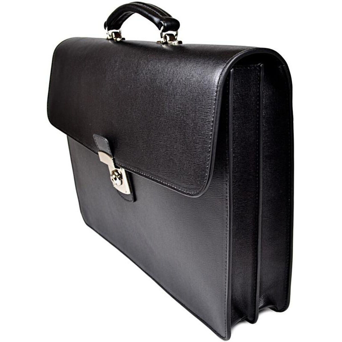 Our Kensington Double Gusset Briefcase With Suede Lining