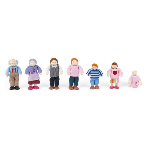 Our Wooden Doll Family with Seven Family Members - Caucasian is on sale now.