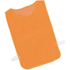 Youth Nylon Mesh Pinnie in Orange - Set of 12