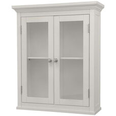 Madison Wall Cabinet with Two Doors - White
