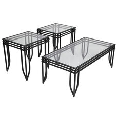 Signature Design by Ashley Exeter 3 Piece Occasional Table Set