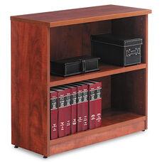 Alera® Valencia Series Bookcase - Two-Shelf - 31 3/4w x 14d x 29 1/2h - Medium Cherry