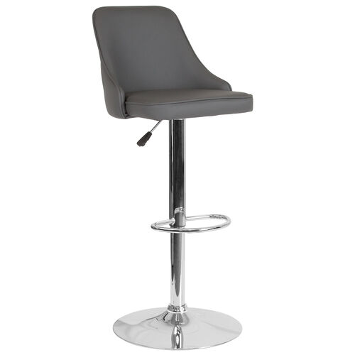 Our Trieste Contemporary Adjustable Height Barstool in Gray LeatherSoft is on sale now.