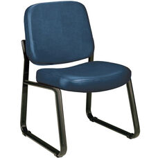 Anti-Microbial and Anti-Bacterial Vinyl Guest and Reception Chair - Navy
