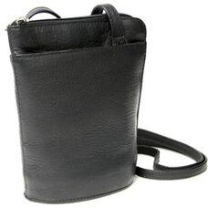 Petite L-Zip Crossbody Bag - Colombian Vaquetta Leather - Black
