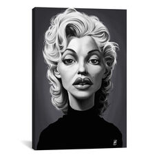 Vintage Celebrity Sunday Series: Marilyn Monroe by Rob Snow Gallery Wrapped Canvas Artwork