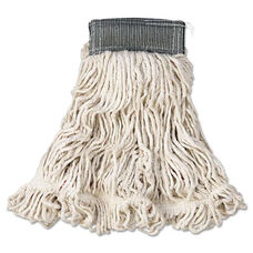 Rubbermaid® Commercial Web Foot Wet Mop - Cotton/Synthetic - White - Medium - 5