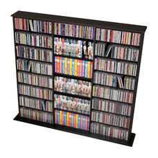Triple Width Wall Storage with 19 Adjustable Shelves - Black