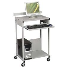 BALT® Max Stax Dual Purpose Printer Stand - Three-Shelf - 25w x 20d x 42-1/2h - Gray