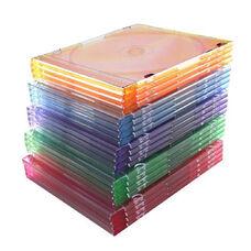 Compucessory Thin CD/DVD Jewel Case - Jewel Case - Black - 100 Pack CD/DVD