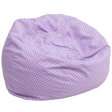 Oversized Lavender Dot Bean Bag Chair for Kids and Adults