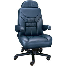 Limited High Back Office Chair with Lumbar Support - Leather