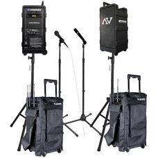 Platinum Digital Audio Travel Partner 250 Watt Amplifier PA Package - 23