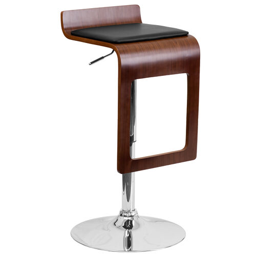 Our Walnut Bentwood Adjustable Height Barstool with Drop Frame and Black Vinyl Seat is on sale now.