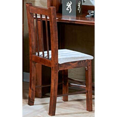 Rustic Style Solid Pine Desk Chair - Cocoa