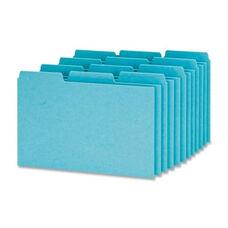 Oxford Pressboard Index Card Guides -Blank -1/3 Cut -4