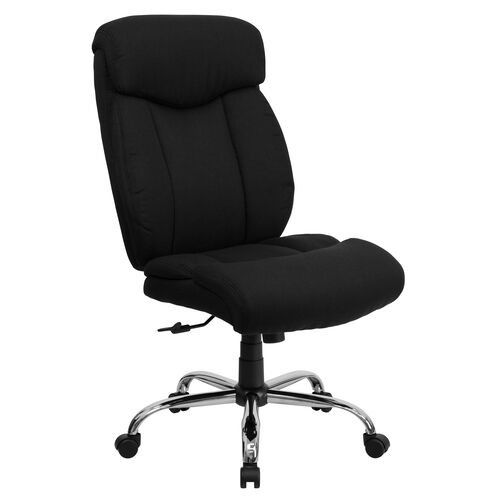 HERCULES Series Big & Tall 400 lb. Rated High Back Executive Swivel Ergonomic Office Chair with Full Headrest and Chrome Base