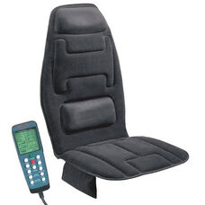 10-Motor Massage Seat Cushion with Heat - Black