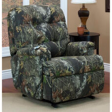 Space Saving Wall-A-Way Reclining Power Lift Chair with TV Position and Full Chaise Pad - Real Tree® Camouflage Fabric