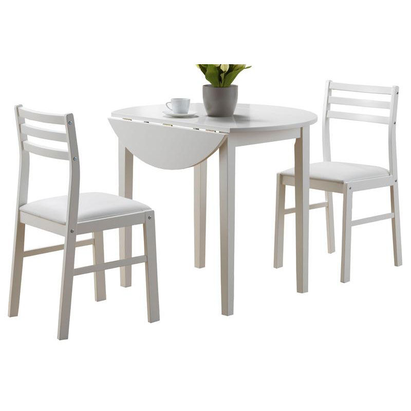 ... Our Casual 3 Piece Dining Set With 36u0027u0027 Diameter Drop Leaf Table And  Ladder