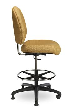 Pearl II 300 Series Medium Back Single Shift Adjustable Swivel and Seat Height Stool