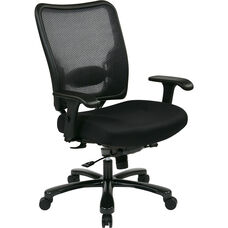 Space Big and Tall Double AirGrid Back and Mesh Seat Ergonomic Office Chair with 400 lb. Weight Capacity