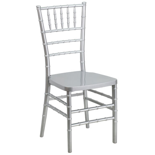 """Our HERCULES PREMIUM Series Silver Resin Stacking Chiavari Chair with <span style=""""color:#0000CD;"""">Free </span> Cushion is on sale now."""