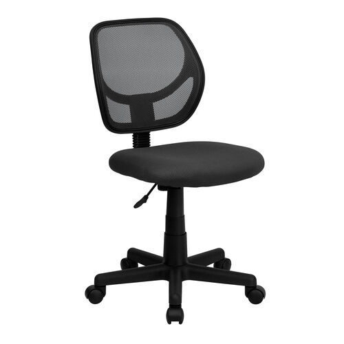 Our Low Back Gray Mesh Swivel Task Office Chair with Curved Square Back is on sale now.