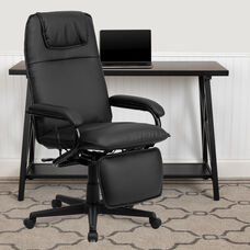 High Back Black LeatherSoft Executive Reclining Ergonomic Swivel Office Chair with Arms