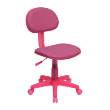 Pink Fabric Swivel Task Chair