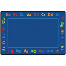 Kids Value Alphabet Value Rectangular Nylon Rug - 96