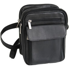 Men s Bag with Adjustable Strap - Colombian Vaquetta Leather - Black 9de88dbf60575