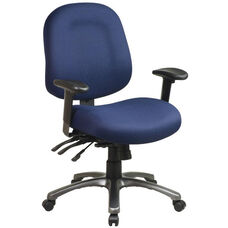 Pro-Line II Ergonomic Mid-Back Chair with Multi Function Control and Titanium Finish Accents