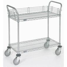 Chrome 2 Shelf Utility Cart-Polyurethane Casters - 24