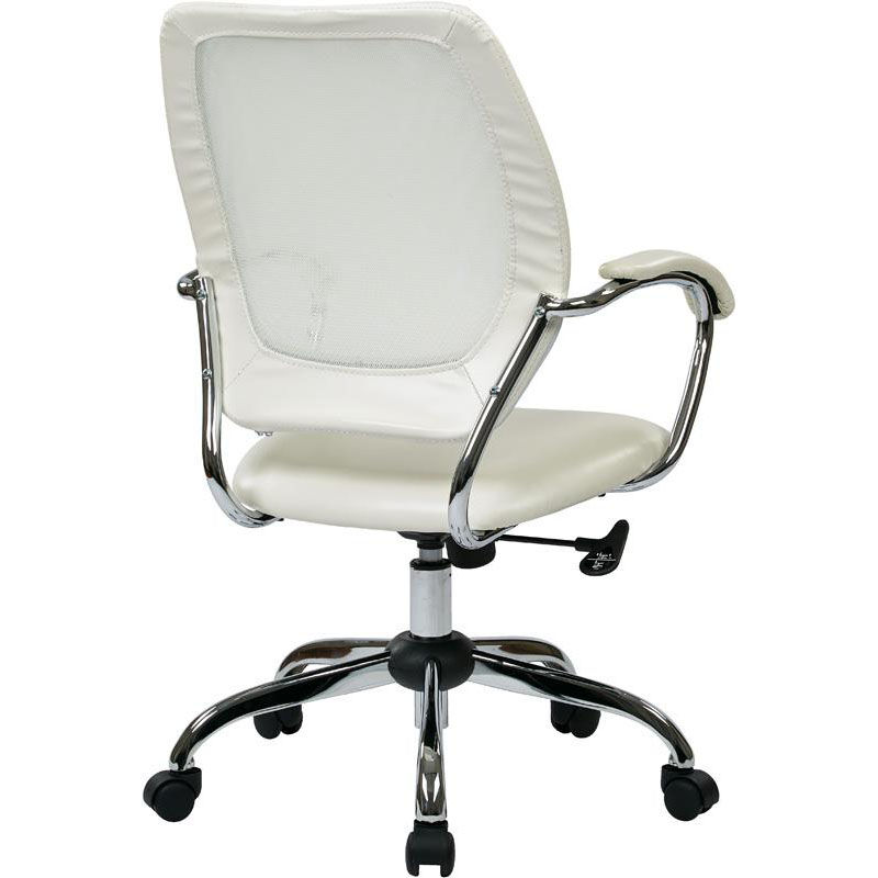 ... Our Work Smart Designer Screen Back Faux Leather Managers Office Chair    White Is On Sale ...