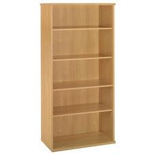 Series C Open Double Bookcase - Light Oak