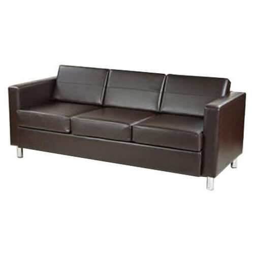 Our Ave Six Pacific Faux Leather Sofa with Chrome Finish Legs - Espresso is on sale now.