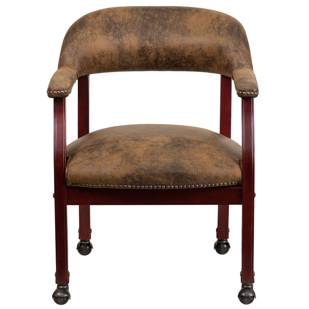 Brown Microfiber Guest Chair B-Z100-BRN-GG | Bizchair.com