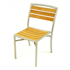 Curacao Indoor/ Outdoor Teak Stackable Side Chair with Welded Aluminum Frame