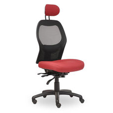 Grid 300 Series High Round Back Quick Set Lumbar Task Chair with Adjustable Headrest