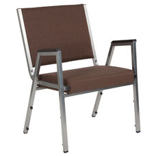 HERCULES Series 1500 lb. Rated Brown Antimicrobial Fabric Bariatric Medical Reception Arm Chair