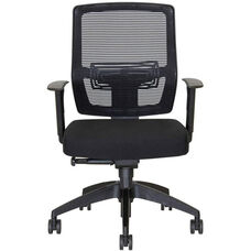 Coco Height Adjustable Task Chair with Arms - Black