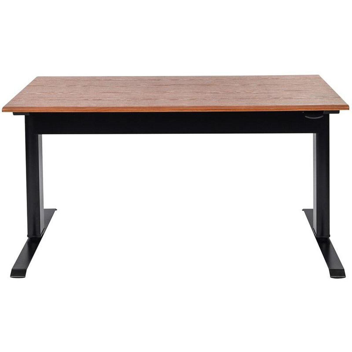 Pneumatic Teak Standing Desk Spn56f Bk Tk Bizchair Com