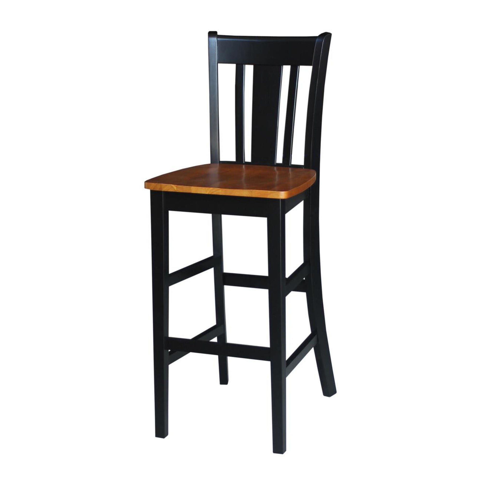 Solid Parawood Bar Stool S57 103 Bizchair Com