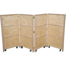 Wooden Folding Mobile Double-Sided Bookcase Panels - 24