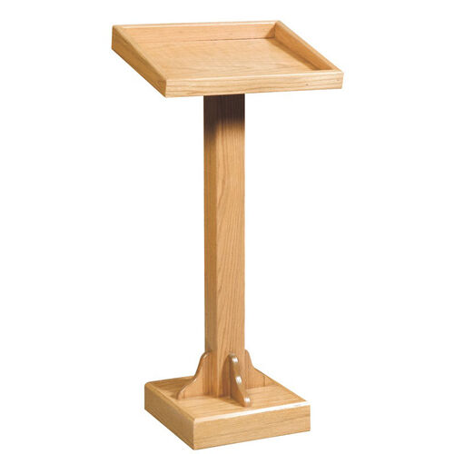 Our Stained Red Oak Lectern with Recessed Top is on sale now.