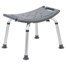 HERCULES Series Tool-Free and Quick Assembly, 300 Lb. Capacity, Adjustable Gray Bath & Shower Chair with Non-slip Feet