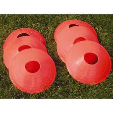 Orange Plastic Soccer Practice Disk - Set of 24