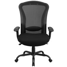Basics Ergonomic 24/7 Intensive Use Big & Tall 400 lb. Rated Mesh Multifunction Synchro-Tilt Office Chair, Black
